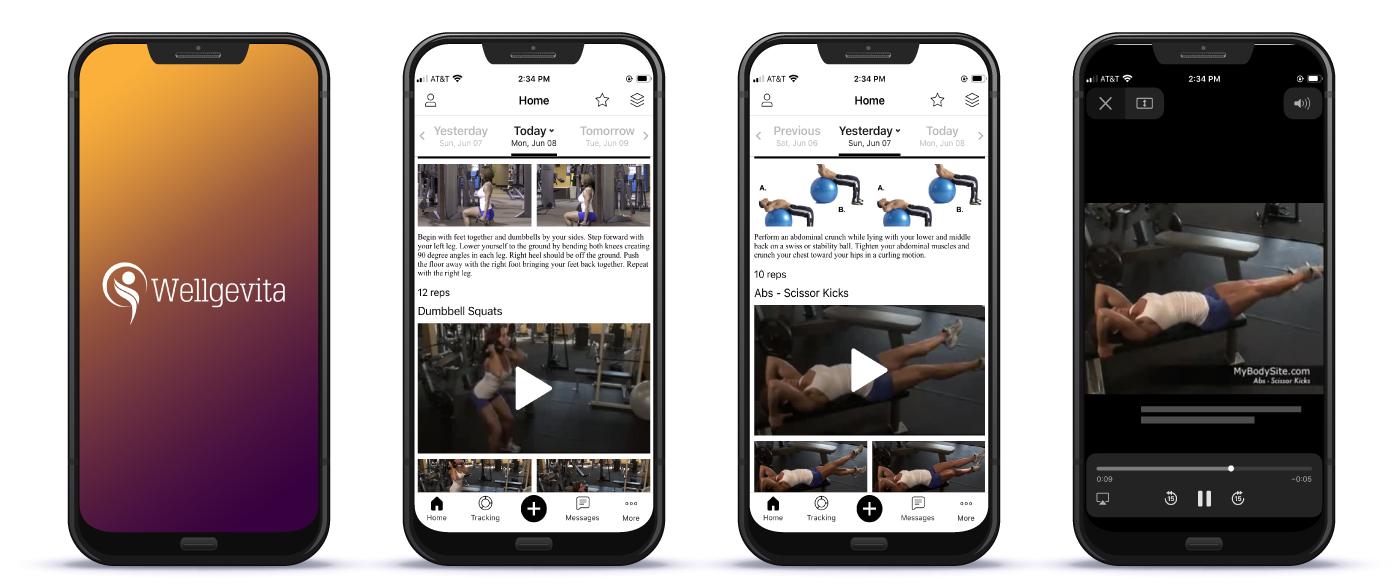 Wellgevita exercise plans on the Wellgevita weight loss app